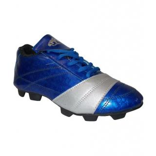 Port Mens Blue Rebl Lace-up Football Shoes