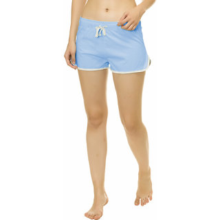 KOTTY Checks Cotton Shorts For Women