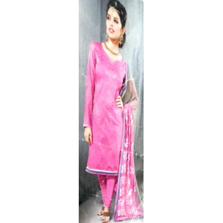 Flairfrills Chanderi Suit (Embroidery) (Unstitched)