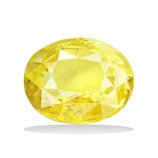 Dinesh Enterprises,Cultured Gemstone YELLOW SAPPHIRE - (PUKHRAJ)  7.25 - 7.50 Ratti (Suggested) Super Delux Quality