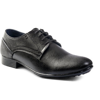 Men's Black Derby Lace-Up Formal Shoes
