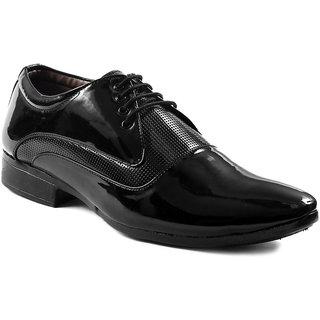 Baton Men's Black Formal Lace-up Shoes