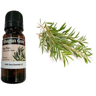 Shagun Gold Tea Tree Essential Oil for Skin, Hair and Acne care ,10 ML