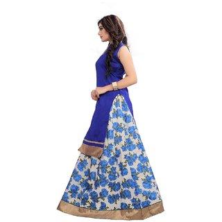 Aika Benglori Silk Printed Bhagalpuri Lehenga Choli For Women ( Blue )-LAAO1763B