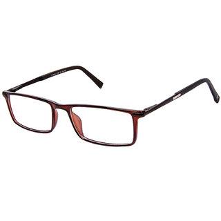 David Blake Brown Rectangular Full Rim EyeGlass