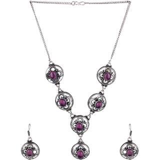 Jewel Treasure Alloy Jewel Set (Purple)