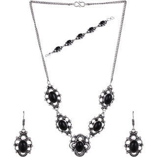 Jewel Treasure Alloy Jewel Set (Black)