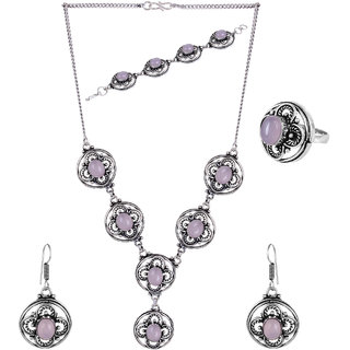 Jewel Treasure Alloy Jewel Set (Pink)