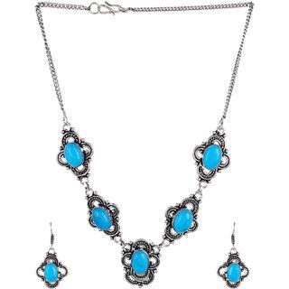 Jewel Treasure Alloy Jewel Set (Turquoise)