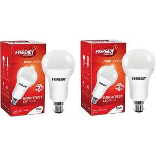 Eveready 18W-6500K Cool Day Light Pack of 2 Led Bulbs