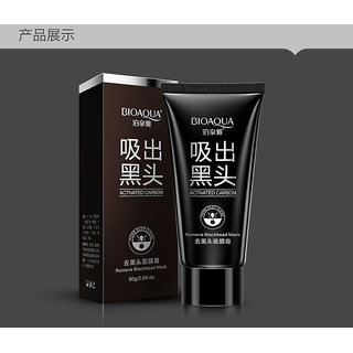 BIOAQUA black mask black head acne blackhead remover face mask deep cleasing beauty peel off mask removedor de cravo