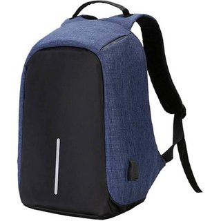 Home Story Large Waterproof Anti Theft and USB Charging Casual Backpack Laptop Bag for 15.6 Laptops Space Blue Black C