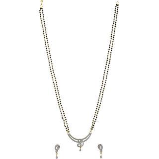 Jewel Treasure American Diamond Alloy Mangalsutra