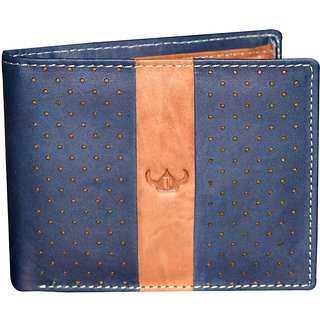 Dhide Designs Trendy Navy Leather Wallet for Men