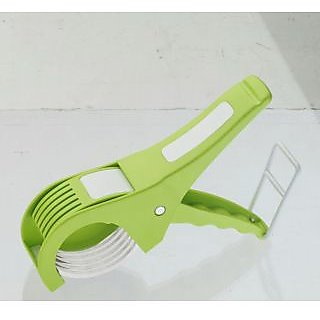 Amiraj Multicolor Plastic Unbreakable Veg Cutter 5X No. of Pieces-1