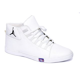 White High Ankle Casual Shoes Online