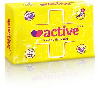 Active Ultra (XL) Healthy Hamesha Sanitary Napkin Combo of 6 Packets (36 Sanitary Pads)