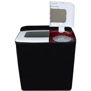 Dream Care Black Colored Washing machine cover for all PANASONIC Semi Automatic top load 5.5Kg-8.5kg