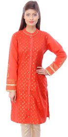 Zhiraa Red Printed Kurti For Women