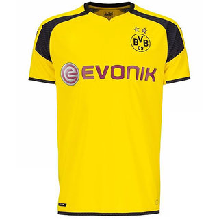 BVB Dry fit round neck Yellow half sleeve Sports jersey