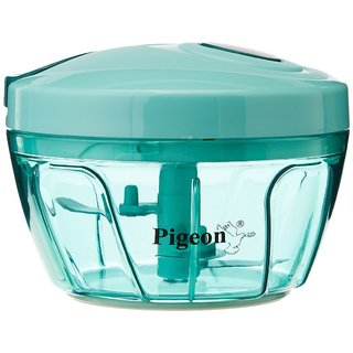 Pigeon New Handy Plastic Chopper with 3 Blades Green