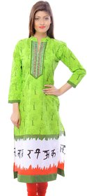 Zhiraa Green Printed Kurti For Women