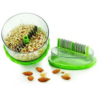 Multi Crusher Garlic Ginger, Dry Fruits Chopper Kitchen Use Steel Blades