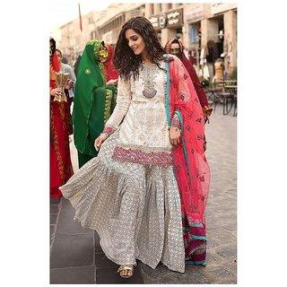 MARIA.B. Lawn 2018 - Spring Summer Pakistani Suit 1014