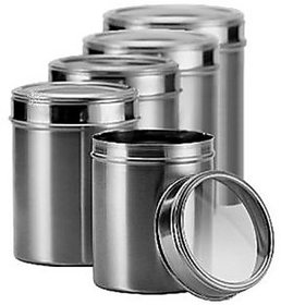 Dynore Stainless Steel Kitchen Storage Canisters With S