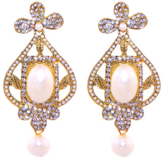 Jewel Treasure Amba Alloy Drop Earring