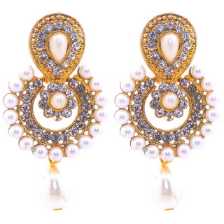 Jewel Treasure Akuti Alloy Drop Earring