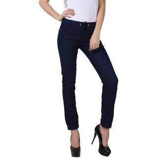 Fuego Fashion Wear Blue Joggers For Women