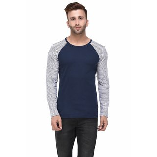 5067e9429cd Buy Rigo Navy Tshirt Striped Raglan Full Sleeve Tshirt for Men ...