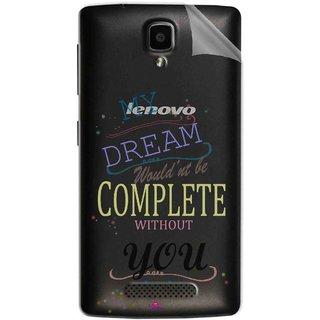 Snooky Digital Print Tpu Transpanent Mobile Skin Sticker For Lenovo A1000