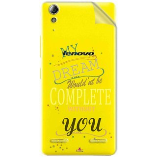 Snooky Digital Print Tpu Transpanent Mobile Skin Sticker For Lenovo A6000 Plus