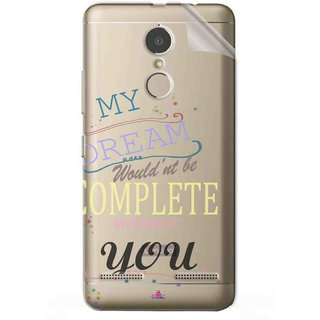 Snooky Digital Print Tpu Transpanent Mobile Skin Sticker For Lenovo K6 Power