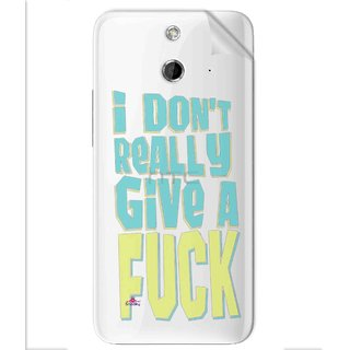 Snooky Digital Print Tpu Transpanent Mobile Skin Sticker For Htc One E8