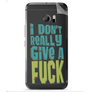 Snooky Digital Print Tpu Transpanent Mobile Skin Sticker For HTC One M10