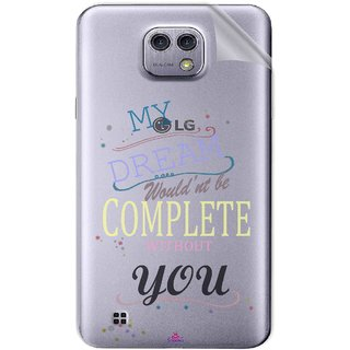 Snooky Digital Print Tpu Transpanent Mobile Skin Sticker For LG X cam
