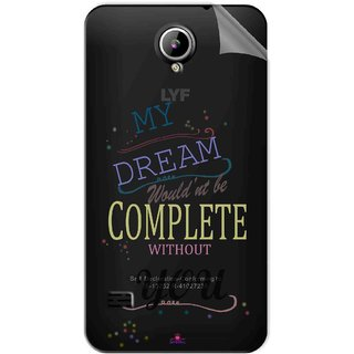 Snooky Digital Print Tpu Transpanent Mobile Skin Sticker For LYF Flame 2