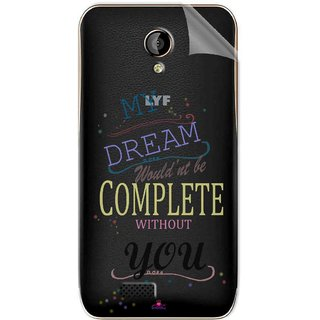 Snooky Digital Print Tpu Transpanent Mobile Skin Sticker For LYF Flame 6
