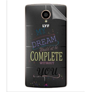 Snooky Digital Print Tpu Transpanent Mobile Skin Sticker For LYF Flame 7