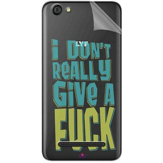 Snooky Digital Print Tpu Transpanent Mobile Skin Sticker For LYF Wind 6
