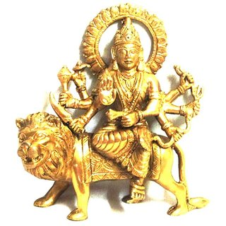 Durga idol pure brass