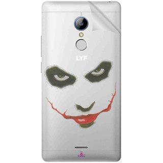 Snooky Digital Print Tpu Transpanent Mobile Skin Sticker For LYF Water 7