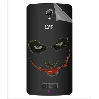 Snooky Digital Print Tpu Transpanent Mobile Skin Sticker For LYF Wind 3