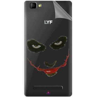 Snooky Digital Print Tpu Transpanent Mobile Skin Sticker For LYF Wind 7