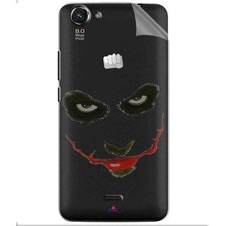 Snooky Digital Print Tpu Transpanent Mobile Skin Sticker For Micromax Bolt Q338