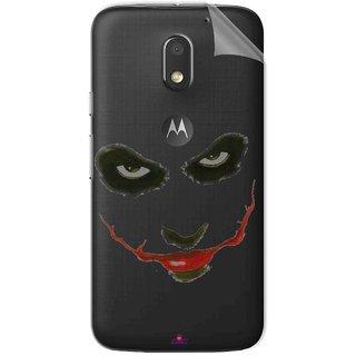Snooky Digital Print Tpu Transpanent Mobile Skin Sticker For Motorola Moto E3 Power