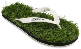 Solethreads Green Color Slippers For Men